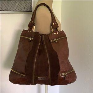 Authentic Jimmy Choo suede & leather handbag purse